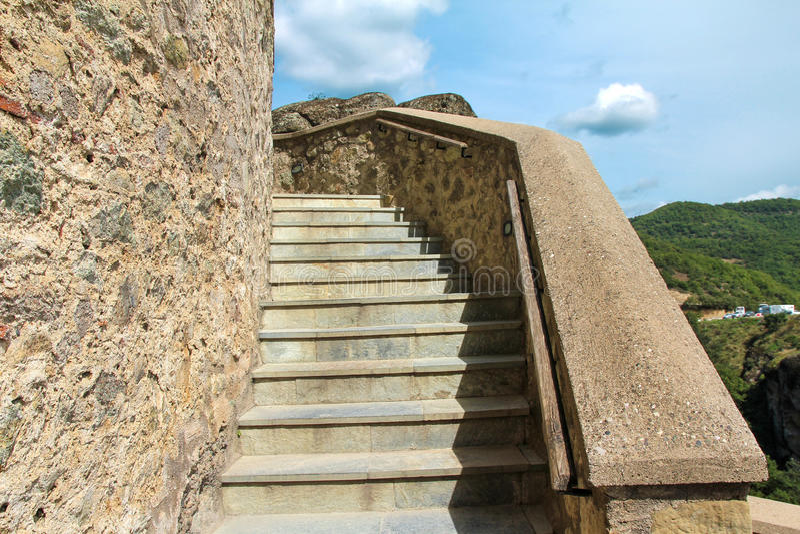 Varlaam修道院迈泰奥拉-希腊 库存照片