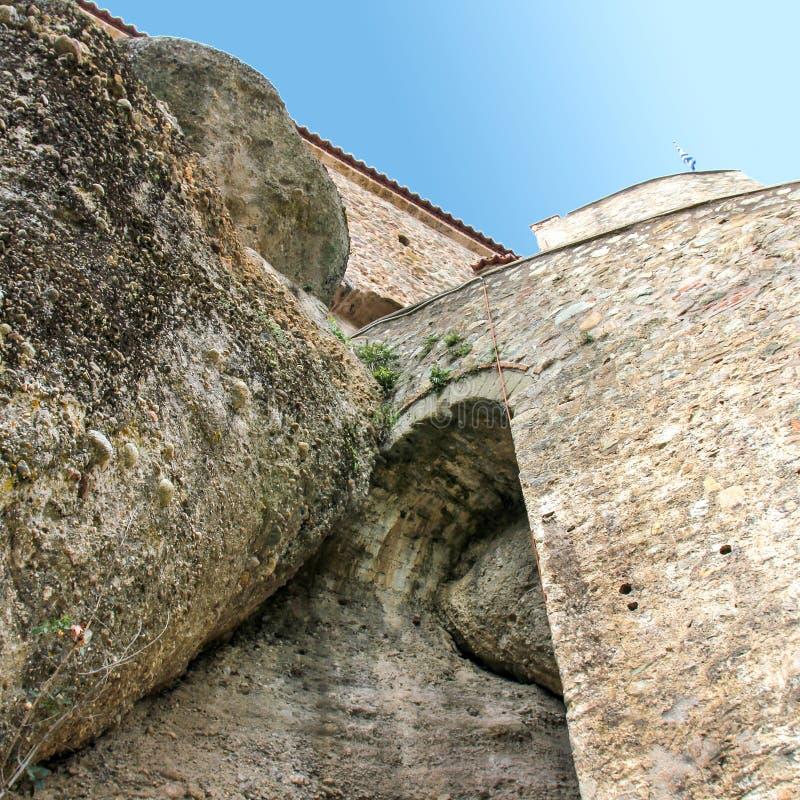 Varlaamklooster Meteora - Griekenland royalty-vrije stock afbeelding