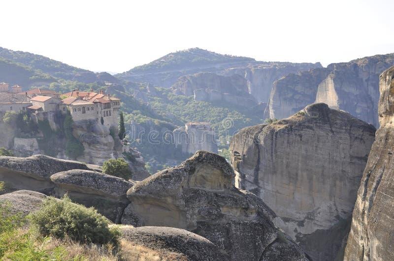 Varlaamklooster van Meteora van Kalambaka in Griekenland royalty-vrije stock foto's