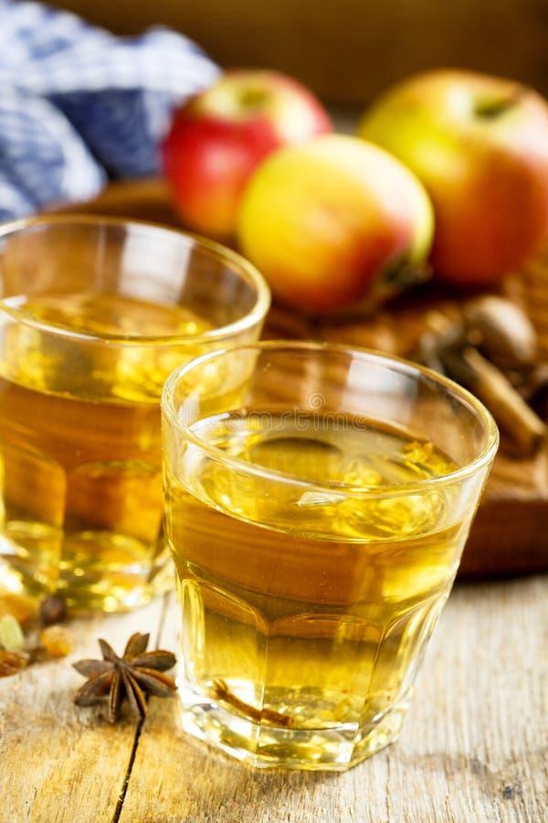 Varm äppeljuice royaltyfri fotografi
