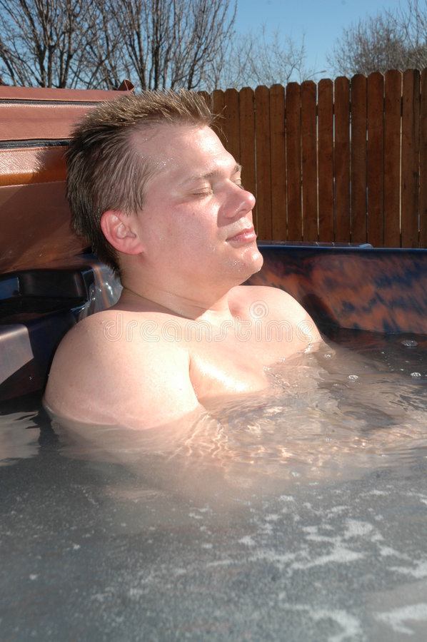 varm avkoppling badar royaltyfria foton