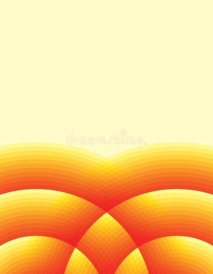 varm bakgrund stock illustrationer
