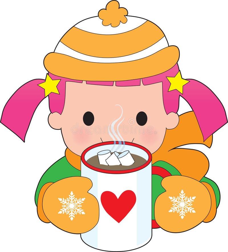 varm barnchoklad royaltyfri illustrationer