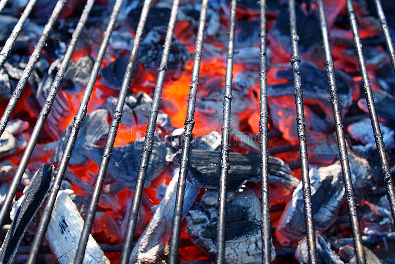 Varm BBQ-närbild royaltyfri bild