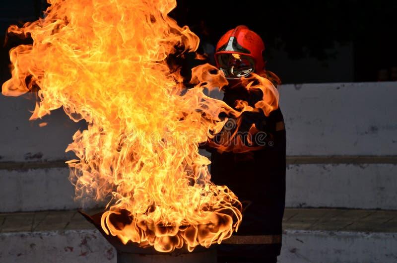 Varm brand arkivfoton
