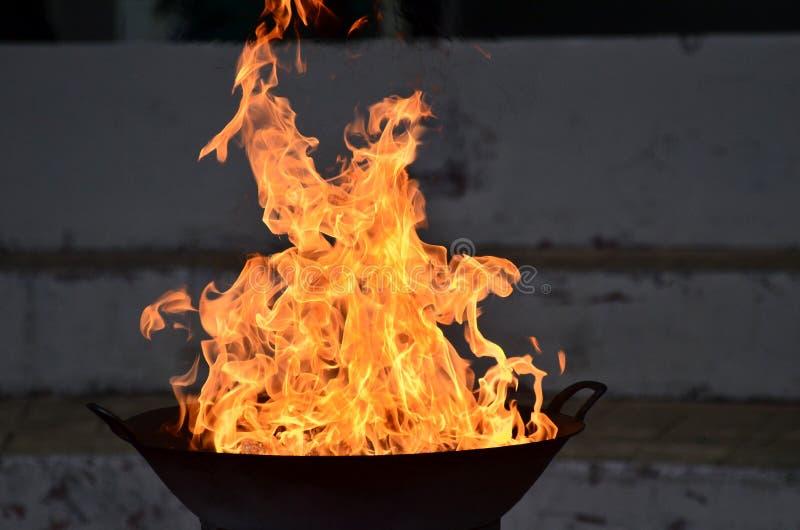 Varm brand fotografering för bildbyråer