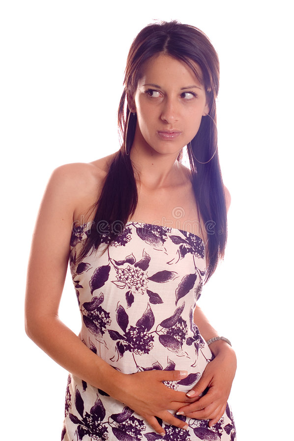 varm brunettflicka royaltyfri fotografi