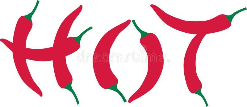 Varm chilipeppar - stock illustrationer