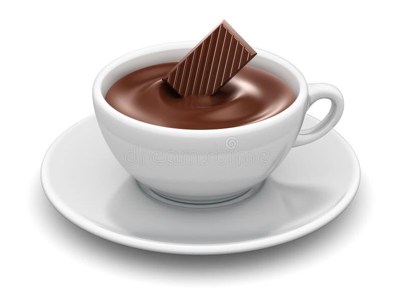 varm choklad stock illustrationer