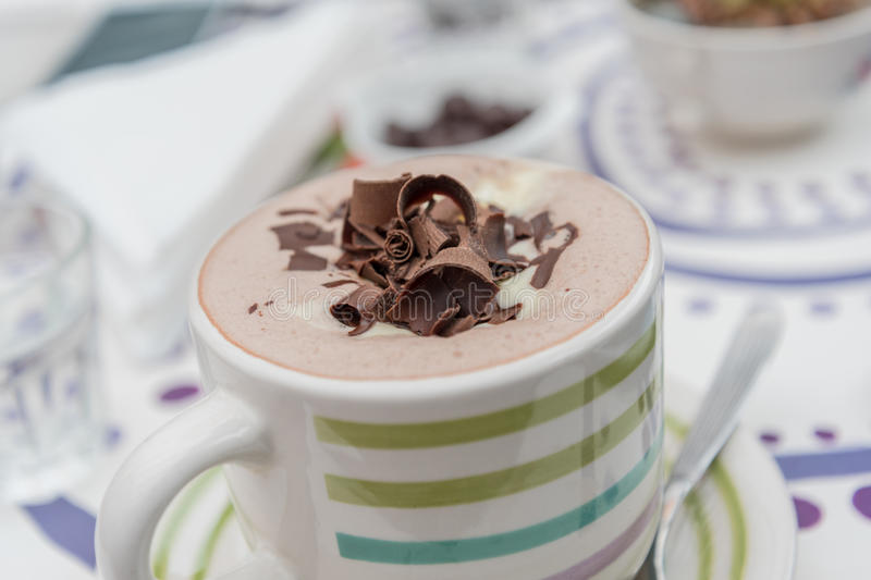 varm choklad arkivfoto