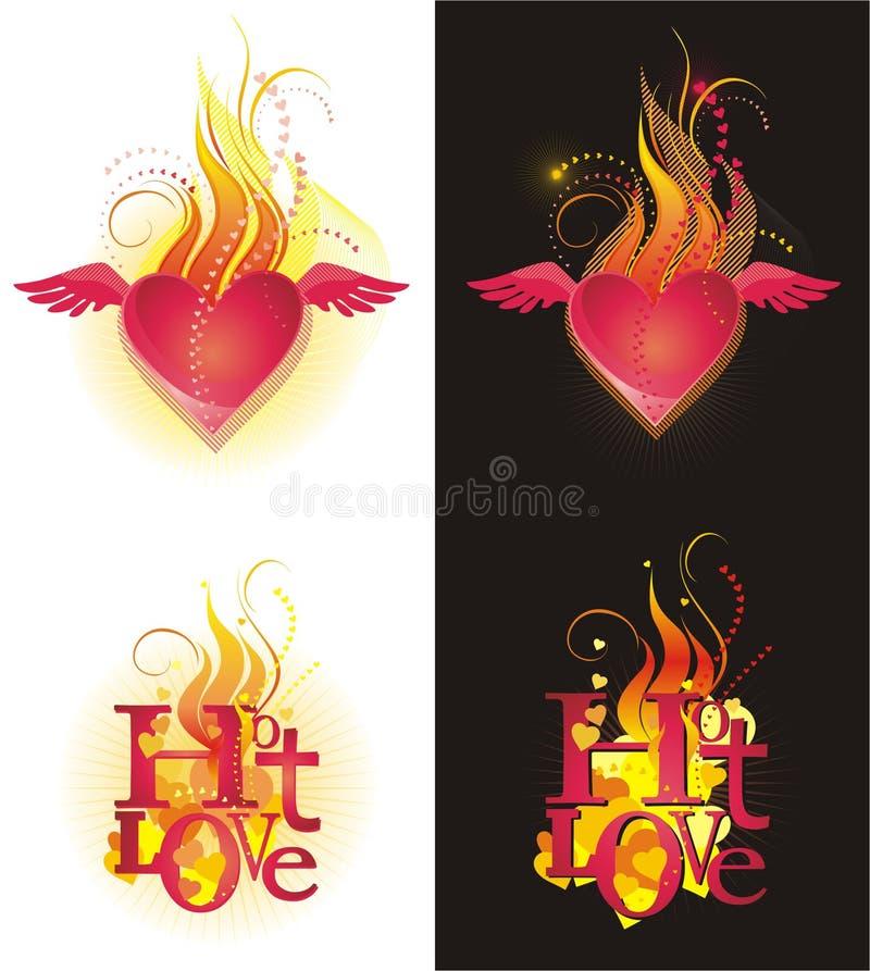 varm förälskelse vektor illustrationer