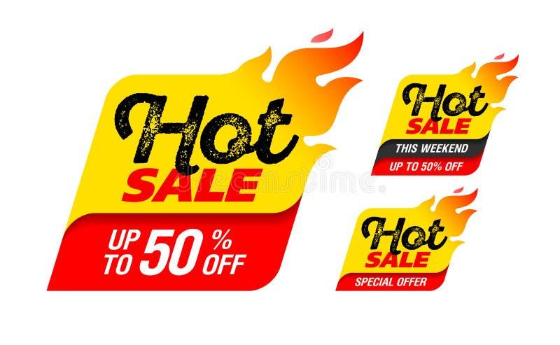 varm försäljning stock illustrationer
