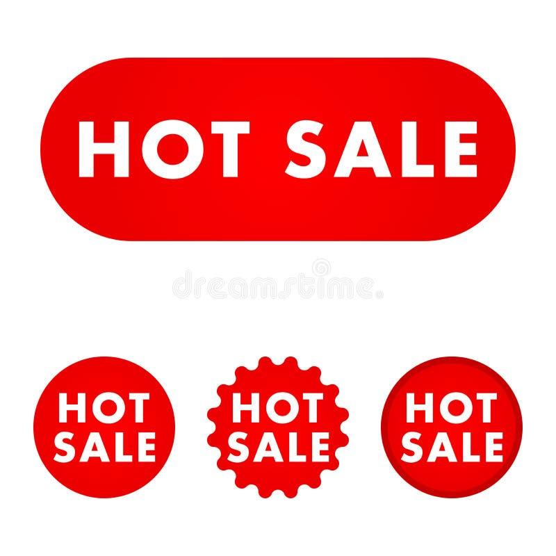 Varm försäljningsknapp royaltyfri illustrationer