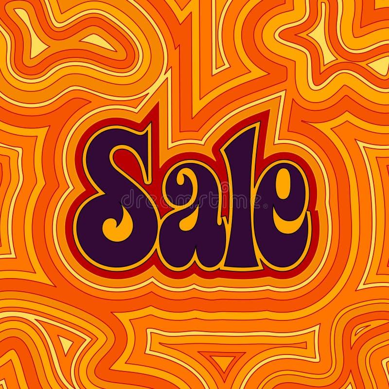 varm groovy försäljning royaltyfri illustrationer
