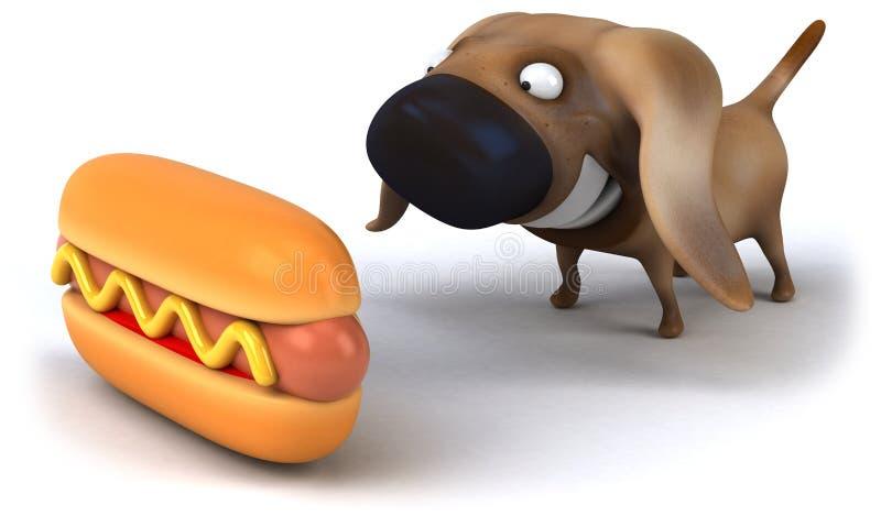 varm hund vektor illustrationer