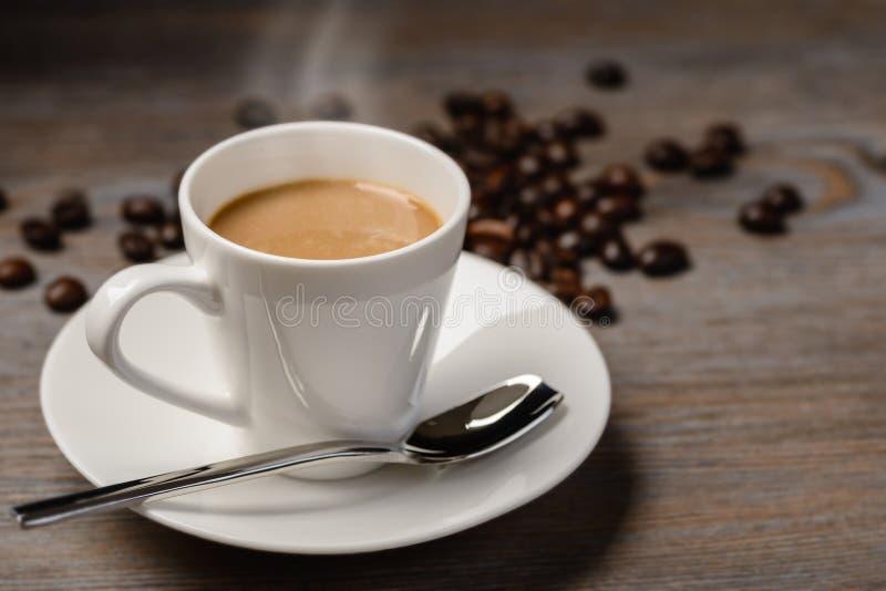 varm kaffeespresso arkivbild
