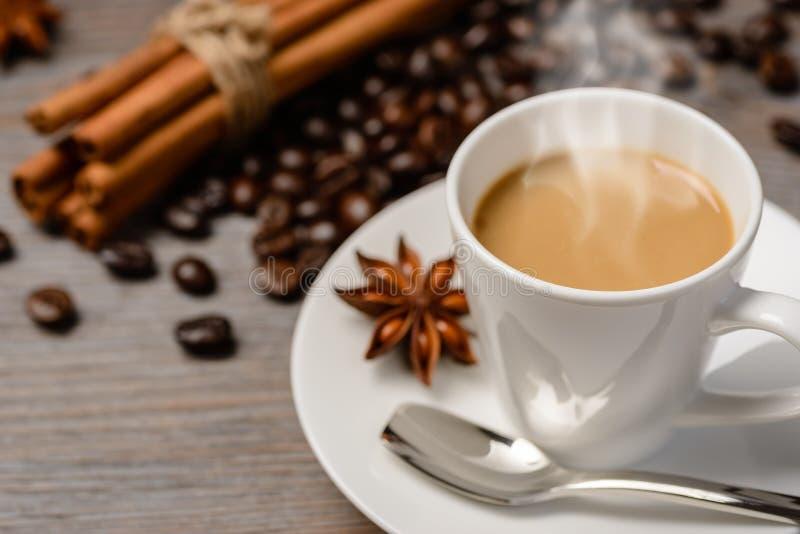 varm kaffeespresso royaltyfri fotografi