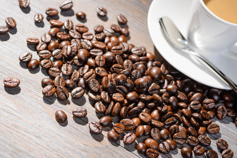 varm kaffeespresso arkivfoton