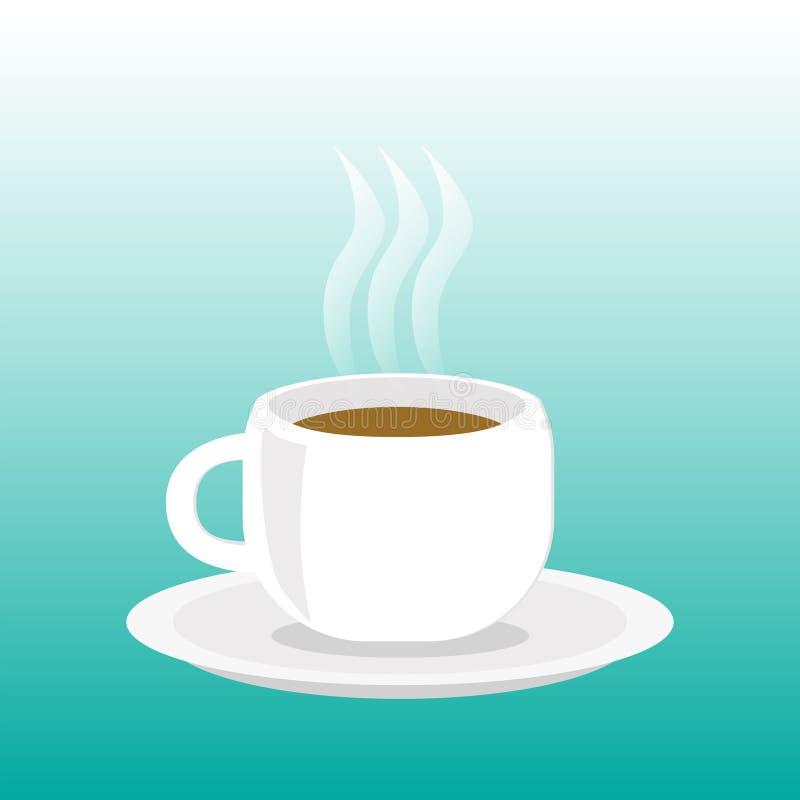 varm kaffekopp stock illustrationer
