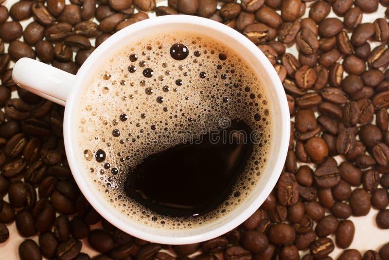 varm kaffekopp Top beskådar arkivfoton