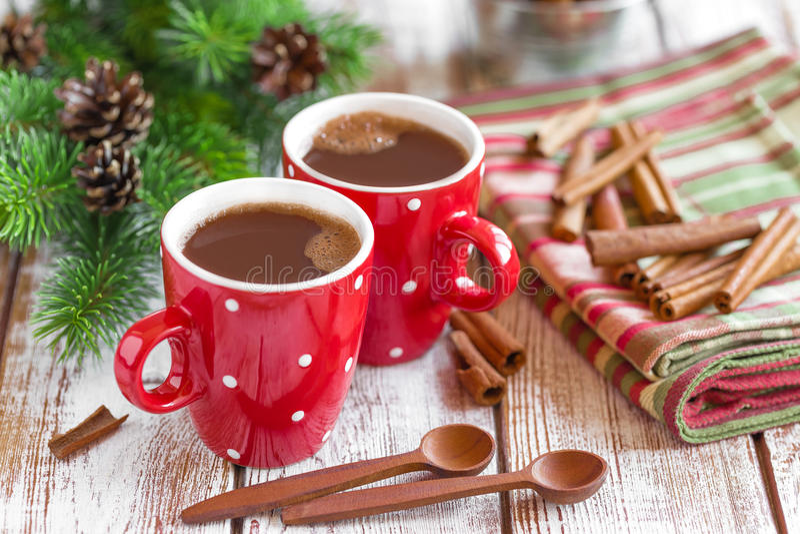 Varm kakaodrink royaltyfria foton