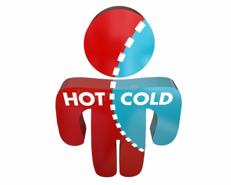 Varm kall Person Percent Different Answers Temperature granskning royaltyfri illustrationer