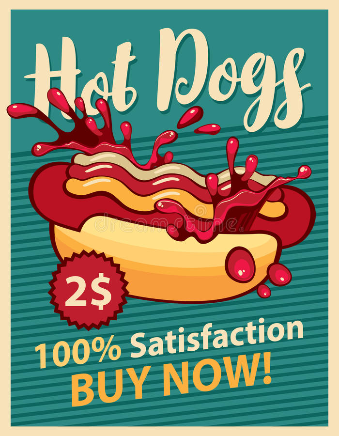 varm ketchup för hund stock illustrationer