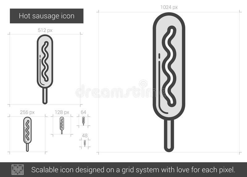 Varm korvlinje symbol stock illustrationer