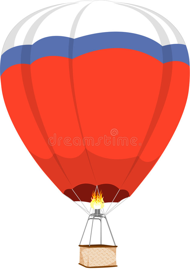 varm luftballong stock illustrationer