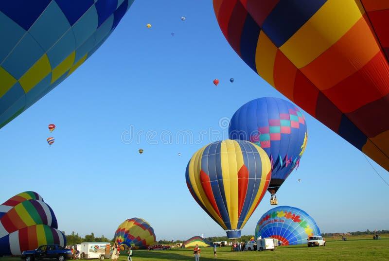 varm luftballongfestival royaltyfri foto