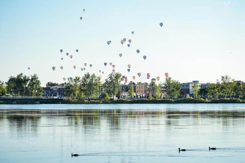 varm luftballongfestival royaltyfri fotografi