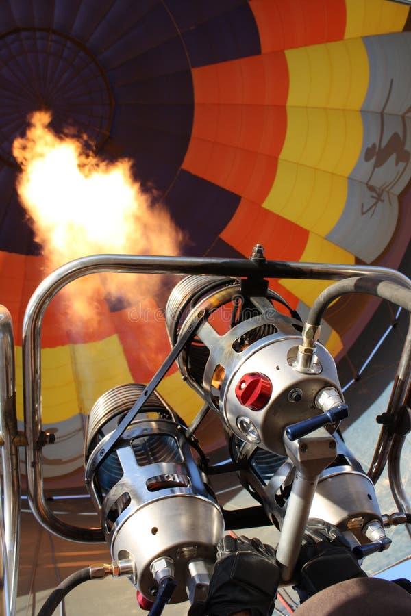 varm luftballonggasbrännare fotografering för bildbyråer