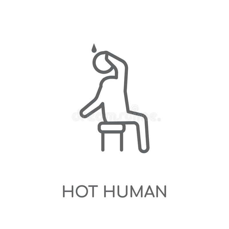 varm mänsklig linjär symbol Varmt mänskligt logobegrepp för modern översikt på vektor illustrationer