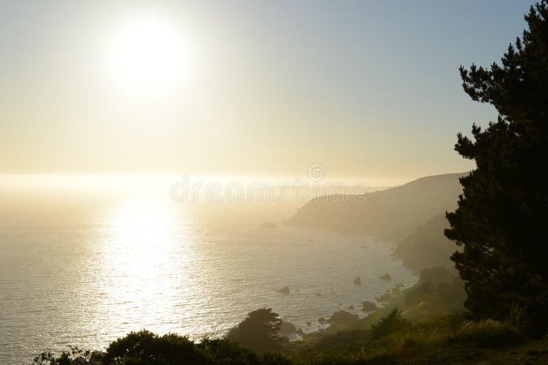 Varm morgon i Sanen Francisco Bay royaltyfri foto