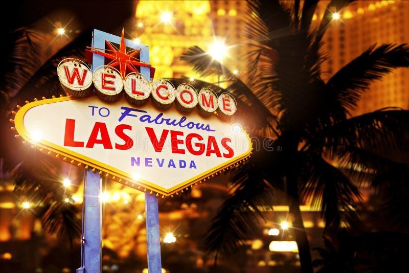 Varm natt i Las Vegas royaltyfria bilder