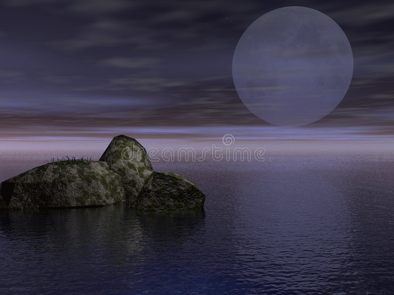 varm nattsommarswamp vektor illustrationer