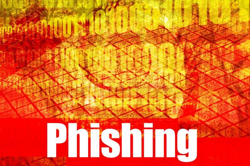 varm online-phishing securirengöringsduk royaltyfri illustrationer