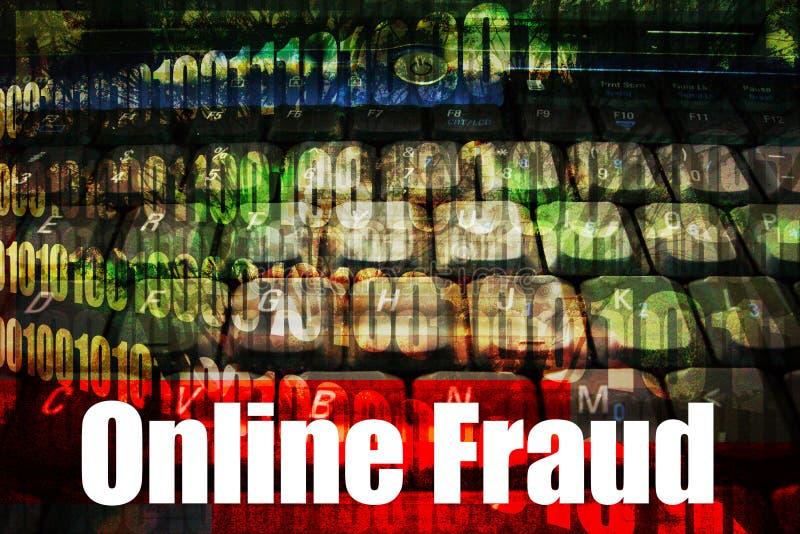 varm online-se-rengöringsduk för bedrägeri royaltyfri illustrationer