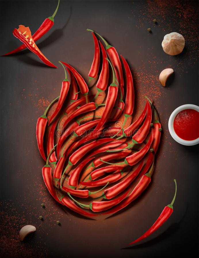varm peppar f?r chili arkivfoton