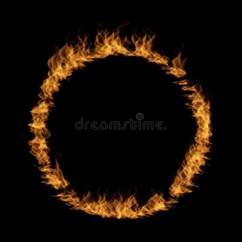 Varm rasa eldsvåda av brand, form för flamma för cirkelrundacirkel stock illustrationer