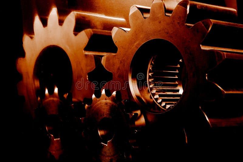varm red för burning kugghjul royaltyfri fotografi