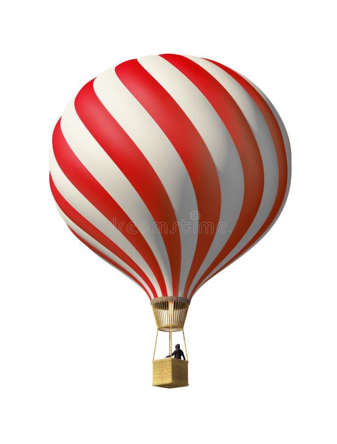 varm red för luftballong vektor illustrationer