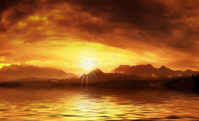 varm solnedgång fotografering för bildbyråer