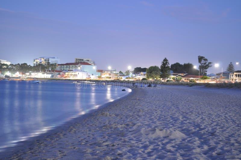 Varm sommarafton på stranden Australien royaltyfri fotografi