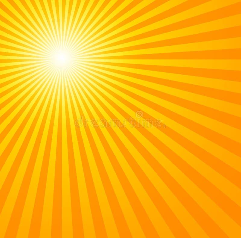 varm sommarsun stock illustrationer