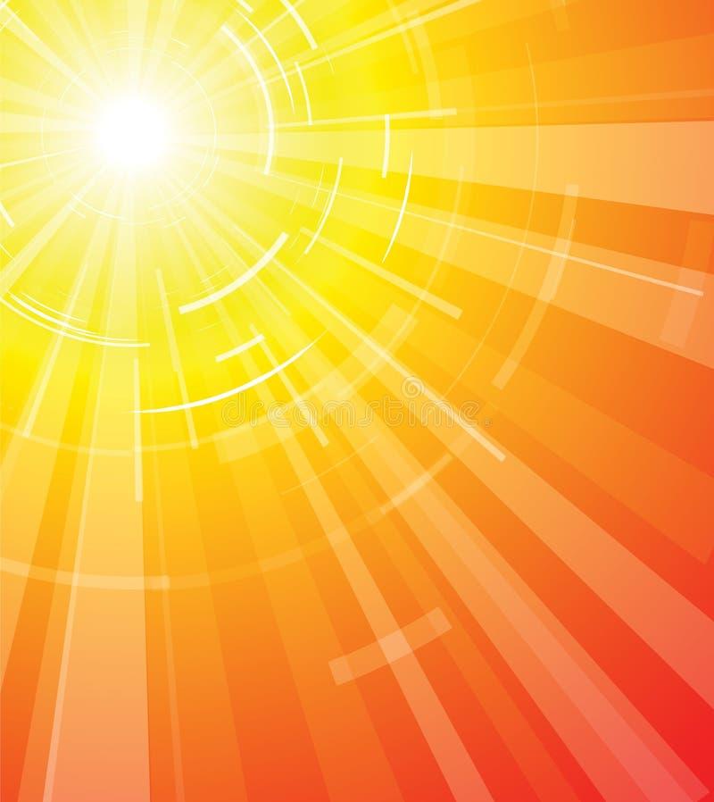 varm sommarsun vektor illustrationer