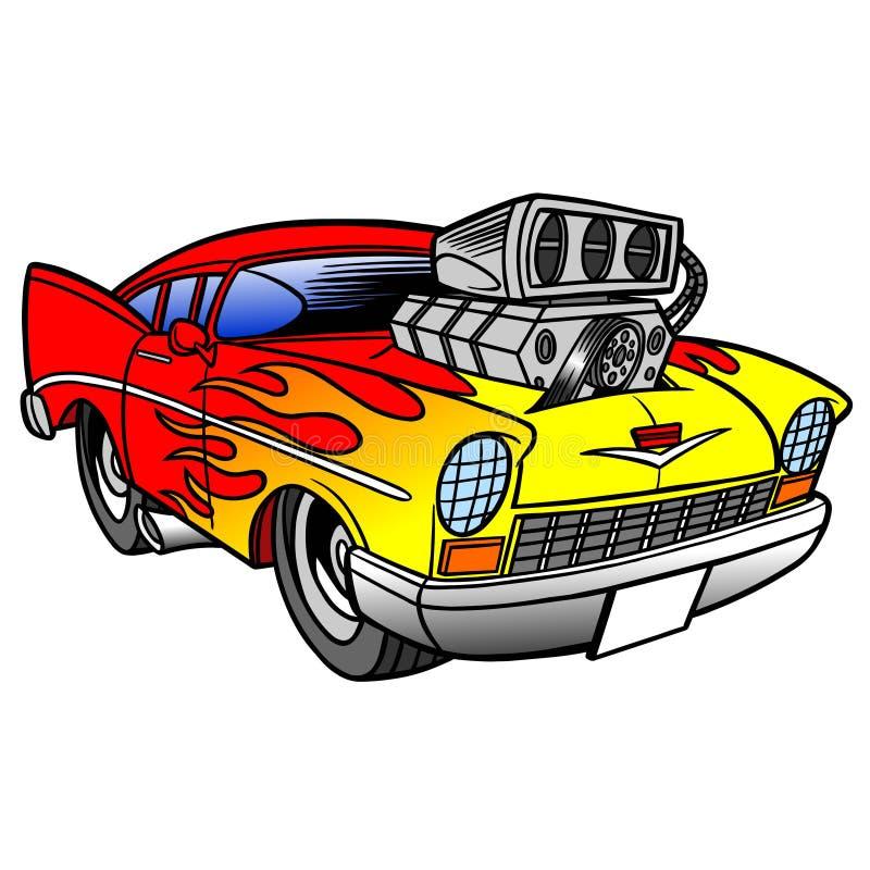 varm stång för bil stock illustrationer
