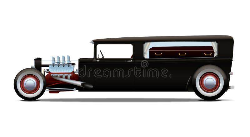 Varm-stång likvagn stock illustrationer
