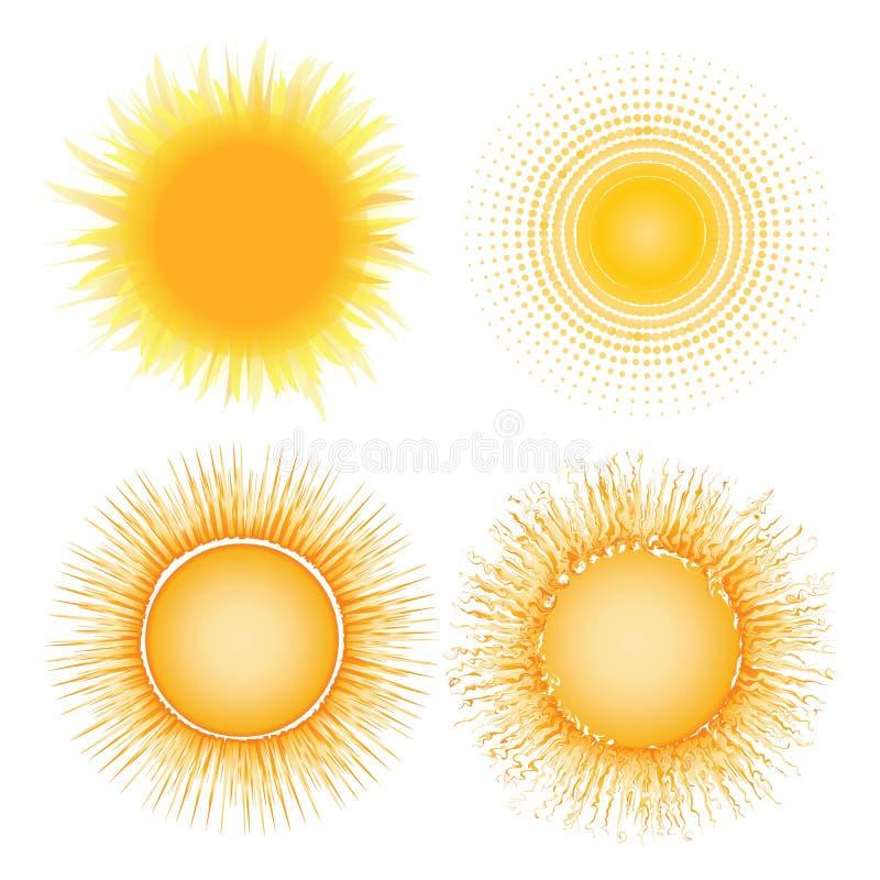 varm sun royaltyfri illustrationer