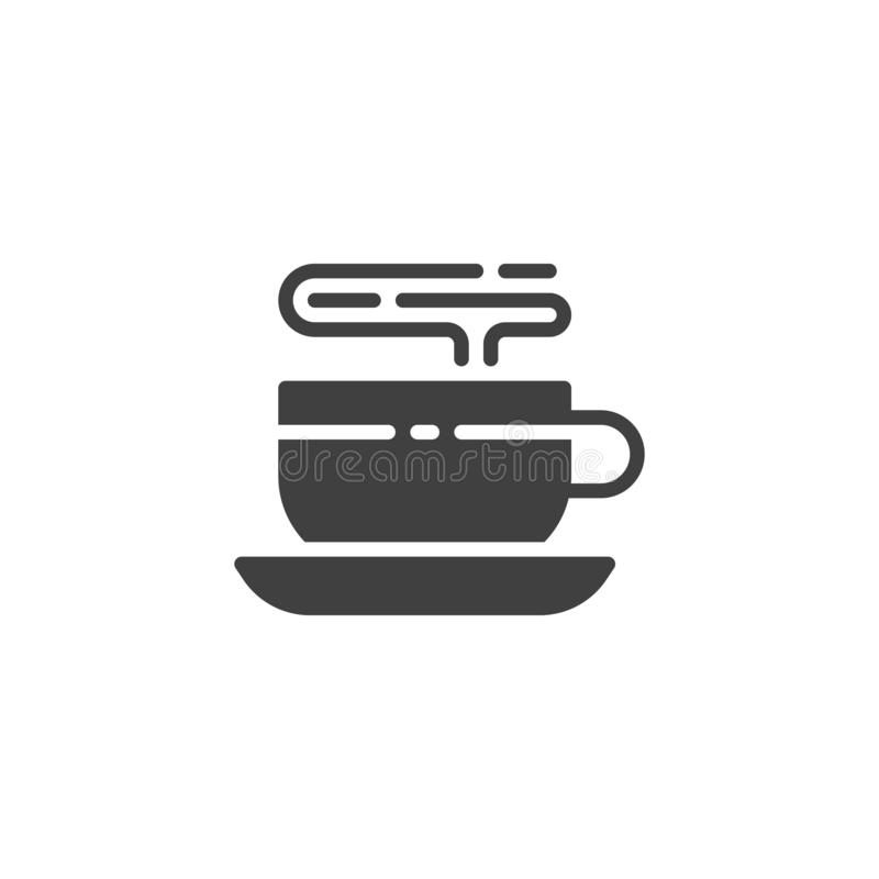 Varm symbol f?r vektor f?r kaffekopp royaltyfri illustrationer